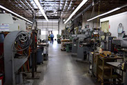 The machine shop floor of Sheet Metal Models located in Indianapolis, Indiana.